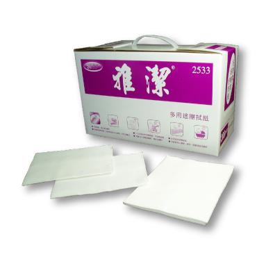 雅潔-通用型盒裝擦拭紙